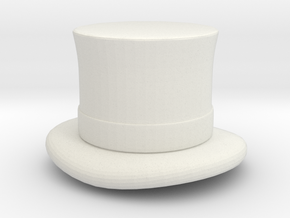 Top Hat (1-48) in White Natural Versatile Plastic