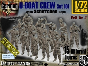 1/72 German U-Boot Crew Set101 in Frosted Ultra Detail