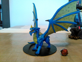 Ancient Blue Dragon  in Blue Processed Versatile Plastic