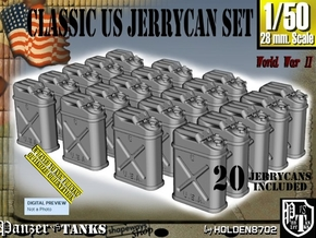1/50 US Jerrycan x20 Set101 in Smooth Fine Detail Plastic