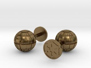 Death Star Cufflinks in Natural Bronze
