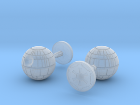 Death Star Cufflinks in Smooth Fine Detail Plastic