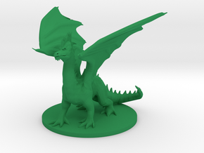 Young Green Dragon - Pose 2 in Green Processed Versatile Plastic