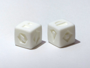 Star Wars, Sabacc Die, D6 in White Processed Versatile Plastic: Medium