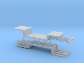 1/50th Double Drop Flatbed B Train trailers in Smooth Fine Detail Plastic