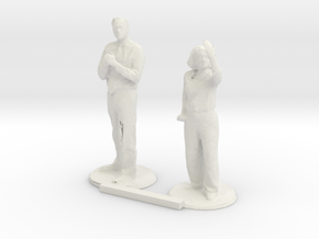 G scale people standing 3 in White Natural Versatile Plastic