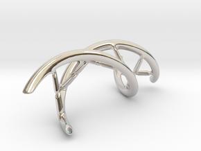 DNA Pendant, 4cm lengh in Platinum