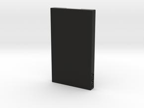 Business Card Holder / Case in Black Natural Versatile Plastic
