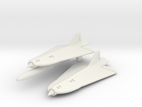 Lockheed D-21 (D-21 & D-21B) Pair 1/285 in White Natural Versatile Plastic