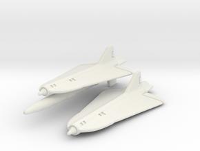 Lockheed D-21 (D-21 & D-21B) Pair 1/285 in White Natural Versatile Plastic