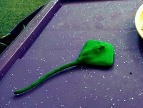 Sting Ray Table Prop in Green Processed Versatile Plastic