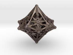 D10 Balanced - Radiant in Polished Bronzed Silver Steel