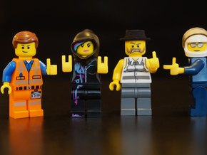 Custom lego compatible Hands set R in Yellow Processed Versatile Plastic