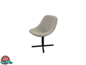 Miniature Mishell Chair - Noti in White Natural Versatile Plastic: 1:12
