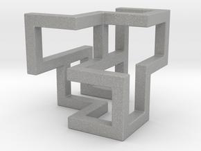 Cube Frame Pendant in Aluminum
