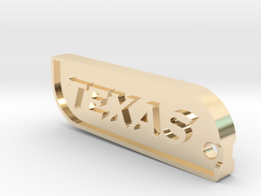 Dallas Texas Keychain in 14k Gold Plated Brass