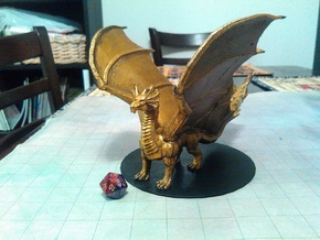 Young Brass Dragon in Yellow Processed Versatile Plastic