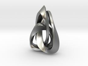 Valknut Triangle in Natural Silver