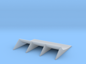 1/24 1/25 rear diffuser 4 in Smooth Fine Detail Plastic