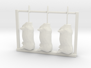 S scale hanging beef in White Natural Versatile Plastic