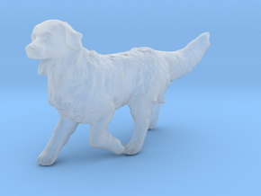 N Scale Running Golden Retriever in Smoothest Fine Detail Plastic