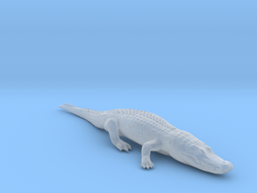 Alligator Relaxing in Smooth Fine Detail Plastic: 1:64 - S