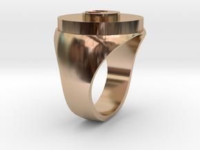 Rebel Resistance Secret Reveal Ring -Base in 14k Rose Gold Plated Brass