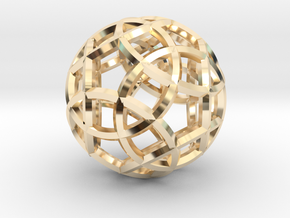Rhombicosidodecahedron Pendant in 14K Yellow Gold