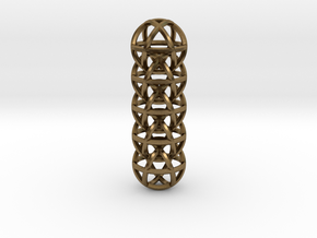 Cuboctahedron Chain in Natural Bronze (Interlocking Parts)
