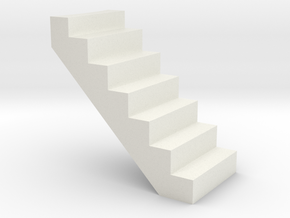 Crane or Platform steps in White Natural Versatile Plastic
