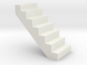 Crane or Platform steps in White Natural Versatile Plastic