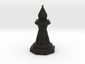 Chessdice (Solid) in Black Natural Versatile Plastic: d8