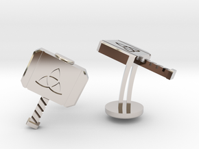 Thor Wedding Cufflinks in Rhodium Plated