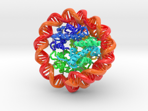 Nucleosome (Large) in Glossy Full Color Sandstone