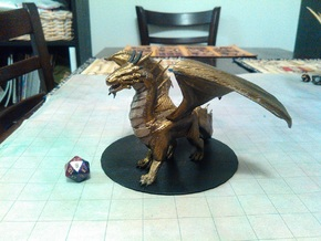 Adult Bronze Dragon in Green Processed Versatile Plastic
