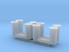 4 bollards big_4 Poller groß in Smooth Fine Detail Plastic: 1:75