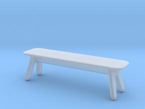 Miniature Slab Bench - Tom Dixon in Smooth Fine Detail Plastic: 1:12