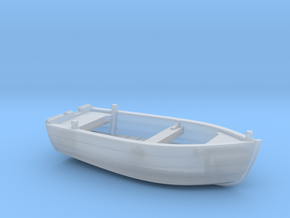 Nbat40 - Wooden smallboat in Smoothest Fine Detail Plastic