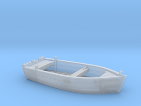 Nbat41 - Wooden smallboat in Smoothest Fine Detail Plastic