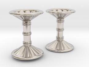 Channeled Column Cufflinks in Platinum
