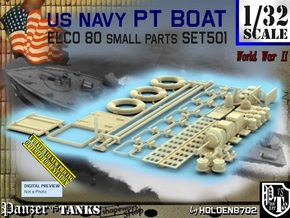 1/32 PT Boat Small Parts Set501 in Smooth Fine Detail Plastic