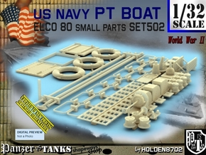 1/32 PT Boat Small Parts Set502 in Smooth Fine Detail Plastic