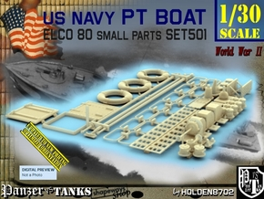 1/30 PT Boat Small Parts Set501 in Smooth Fine Detail Plastic