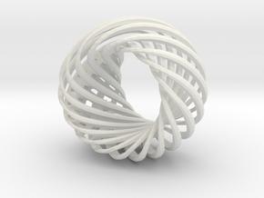 City ring in White Natural Versatile Plastic