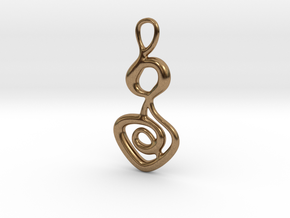 Hieroglyph key in Natural Brass