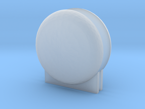 """'N & HO Scale' - LNG Tank Ends & Supports - 1"""" dia in Smooth Fine Detail Plastic"""