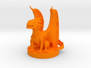Copper Dragon Wyrmling in Orange Processed Versatile Plastic