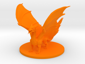 Young Copper Dragon in Orange Processed Versatile Plastic
