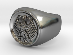 German Eagle Ring in Polished Silver
