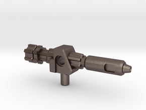 Outback's Gun, 5mm in Polished Bronzed Silver Steel